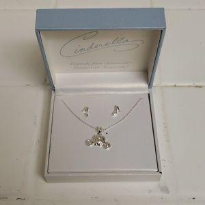Disney Princess Cinderella Earrings & Necklace Set